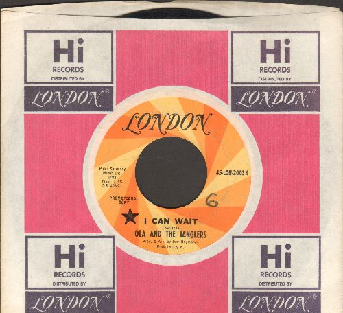 Ola & The Janglers - I Can Wait/Enny Meeny Miney Moe (DJ advance pressing with London company sleeve)  - VG7/ - 45 rpm Records