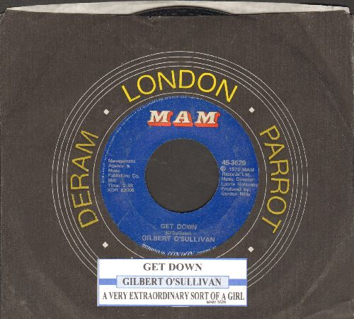 O'Sullivan, Gilbert - Get Down/A Very Extraordinary Sort Of Girl (with juke box label and company sleeve) - RX8/ - 45 rpm Records