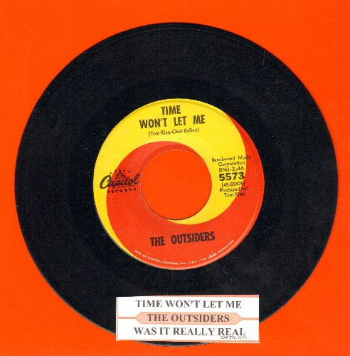 Outsiders - Time Won't Let Me/Was It Really Real (with juke box label) - NM9/ - 45 rpm Records