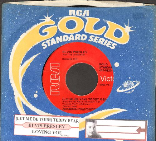 Presley, Elvis - Teddy Bear/Loving You (1970s re-issue with juke box label and RCA company sleeve) - NM9/ - 45 rpm Records