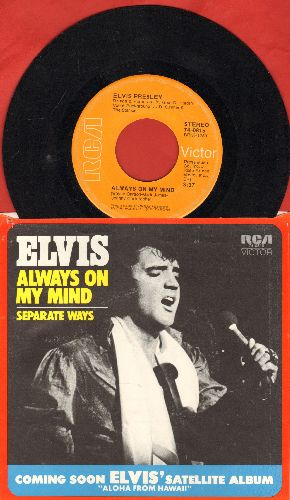Presley, Elvis - Always On My Mind/Separate Ways (first pressing with picture sleeve) - EX8/EX8 - 45 rpm Records