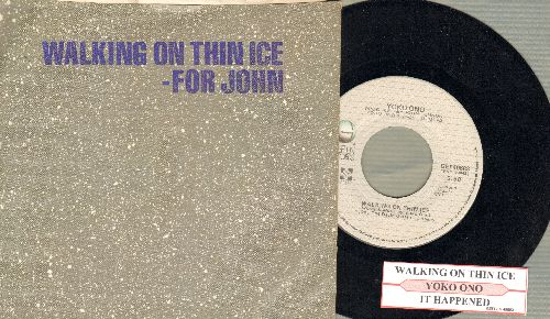 Ono, Yoko - Walking On Thin Ice - For John/It Happened (with juke box laberl and picture sleeve) - NM9/NM9 - 45 rpm Records