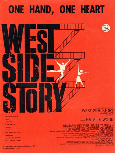 Bernstein, Leonard - One Hand, One Heart - Vintage SHEET MUSIC for song featured in film -West Side Story- - NM9/ - Sheet Music