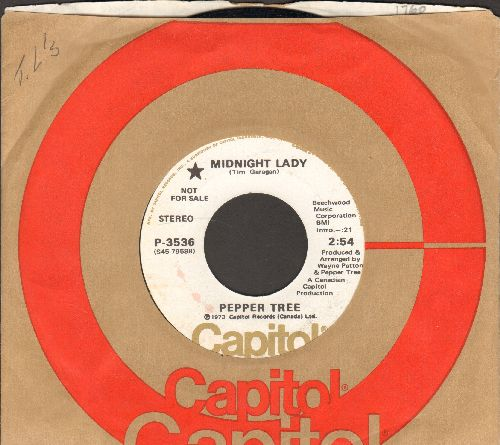 Pepper Tree - Midnight Lady/Teach Me How To Fly (DJ advance pressing with Capitol company sleeve) - NM9/ - 45 rpm Records