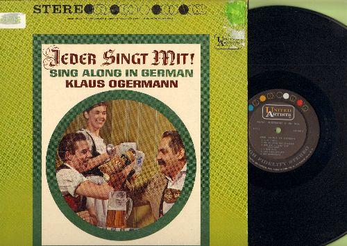 Obermann, Klaus - Jeder Singt Mit! - Sing Along In German: Muss I Denn, Du Du Liegst Mir Im Herzen, O Mein Papa, Auf Wiederseh'n, Seemann, Banjo Boy (Vinyl STEREO LP record) - M10/EX8 - LP Records