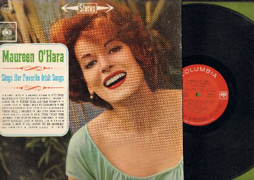 O'Hara, Maureen - Maureen O'Hara Sings Her Favorite Irish Songs: Danny Boy, Nora Lee, I Once Loved A Boy, Come Back To Erin, A Kerry Cow, Wee Hughie (vinyl STEREO LP record) - EX8/NM9 - LP Records