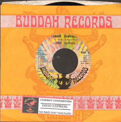 Ohio Express - Cowboy Convention/The Race (That Took Place) (with juke box label and Buddah company sleeve) - NM9/ - 45 rpm Records