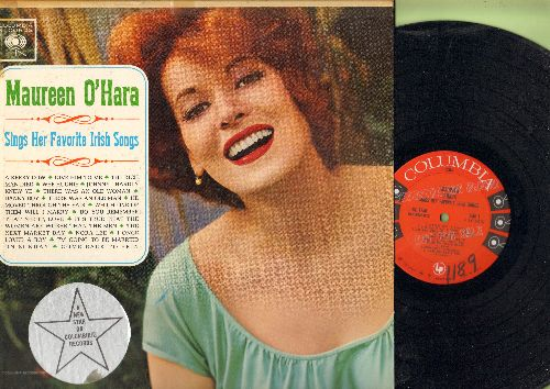 O'Hara, Maureen - Maureen O'Hara Sings Her Favorite Irish Songs: Danny Boy, Nora Lee, I Once Loved A Boy, Come Back To Erin, A Kerry Cow, Wee Hughie (Vinyl MONO LP record, DJ advance pressing)) - NM9/VH7 - LP Records