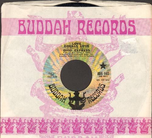 Ohio Express - Love Equals Love/Peanuts (DJ advance pressing with Buddah company sleeve) - EX8/ - 45 rpm Records