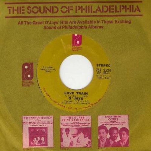 O'Jays - Love Train/Who Am I (with Philadelphia International company sleeve) - VG7/ - 45 rpm Records