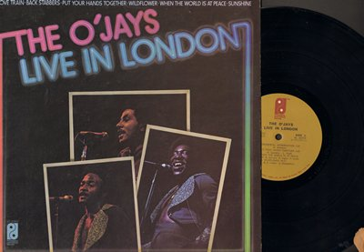 O'Jays - Live In London: Love Train, Sunshine, Wildflower, Put Your Hands Together, Back Stabbers (Vinyl STEREO LP record) - EX8/VG7 - LP Records