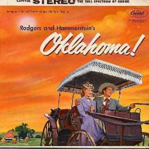Oklahoma! - Oklahoma! - Original Motion Picture Sound Track, includes title song, Oh What A Beautiful Morning, Surrey With A Fringe On Top, I Cain't Say No, People Will Say We're In Love, All Er Nothin', Kansas City, more! (Vinyl STEREO LP record, gate-fo