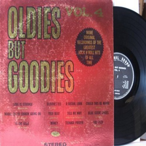 Rays, Dubs, Gloria Mann, Mickey & Sylvia, others - Oldies But Goodies Vol. 4: Silhouettes, Teenage Prayer, Love Is Strange, Whole Lot Of Shakin' Going On, Blue Suede Shoes (Vinyl STEREO LP record, 1962 issue) - EX8/VG7 - LP Records