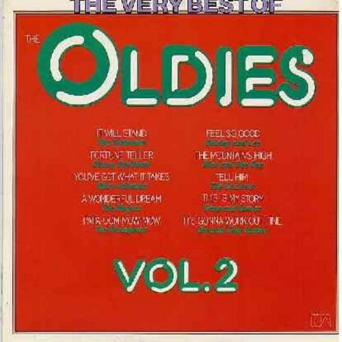 Showmen, Marv Johnson, Rivingtons, Exciters, others - The Very Best Of The Oldies Vol. II: It Will Stand, You've Got What It Takes, The Mountain's High, Tell Him, Papa-Oom-Mow-Mow, A Wonderful Dream (Vinyl LP record, 1975 issue of vintage recordings) - NM