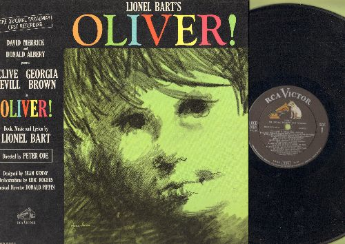 Oliver! - Oliver!: Original Broadway Cast Recording; includes  Food Glorious Food, Consider Yourself, You've Got To Pick A Pocket Or Two, Who Will Buy? (Vinyl MONO LP record. gate-fold cover) - NM9/NM9 - LP Records