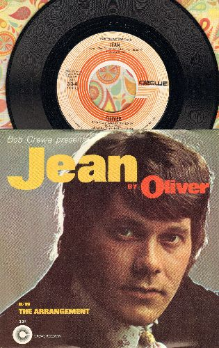Oliver - Jean (From film The Prime Of Miss Jean Brodie)/The Arrangement (MINT condition with picture sleeve!) - NM9/NM9 - 45 rpm Records