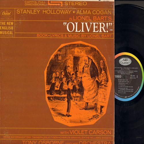 Oliver! - Oliver! - The New English Musical starring Stanley Holloway as Fagin, Alma Cogan as Nancy, Denis Waterman as Oliver , and Tony Tanner as the Artful Dodger (Vinyl STEREO LP record) - NM9/EX8 - LP Records