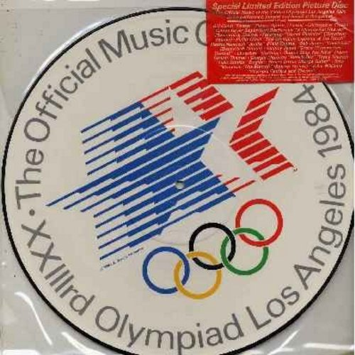 Conti, Bill, Foreigner, Giorgio Moroder, Quincy Jones, others - The Official Music Of The 1984 Olympiad In Los Angeles - RARE Vinyl Picture Disc, DJ advance copy - NM9/ - LP Records