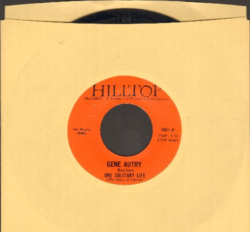 Autry, Gene - One Solitary Life (The Story Of Christ)/A Cowboy's Prayer - NM9/ - 45 rpm Records