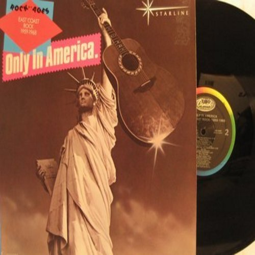 Jay & The Americans, Exciters, Marv Johnson, others - Only In America - Rock Of Ages -East Coast Rock 1959-1968: She Cried, Tell Him, You Got What It Takes, Goin' Out Of My Head (Vinyl LP record, re-issue of vintage recordings) - M10/NM9 - LP Records