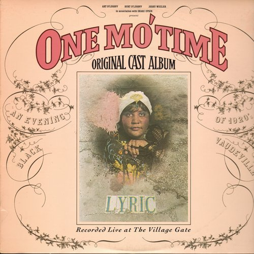 One Mo'Time - One Mo'Time - Original Cast Album, recorded LIVE at the Village Gate (Vinyl STEREO LP record) - M10/NM9 - LP Records