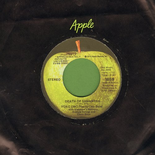Ono, Yoko & Plastic Ono Band - Death Of Samantha/Yang Yang (with Apple company sleeve) - M10/ - 45 rpm Records