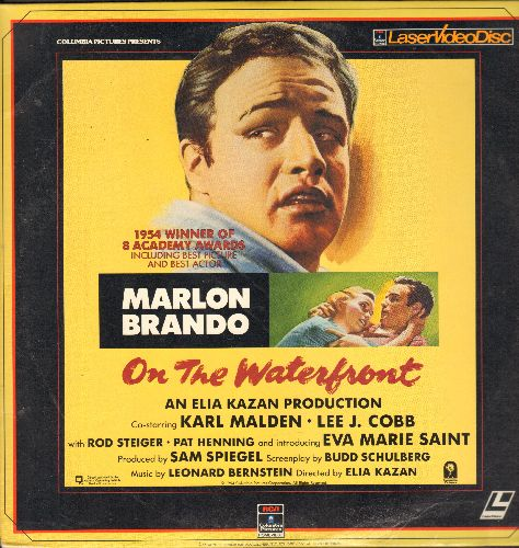 On The Waterfront - On The Waterfront - LASER DISC version of the Acadey Award Winning Classic Drama (This is a LASER DISC, not any other kind of media!) - NM9/NM9 - LaserDiscs