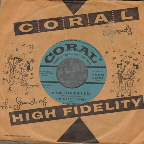 Clooney, Rosemary - A Tough Of The Blues/I Wish I Were In Love Again (DJ  advance pressing with Coral company sleeve) - EX8/ - 45 rpm Records