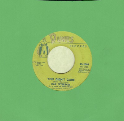 Peterson, Ray - You Didn't Care/If Only Tomorrow (wol) - VG7/ - 45 rpm Records