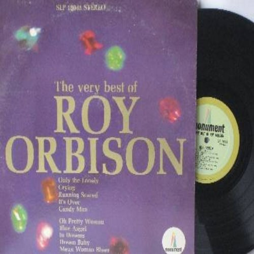 Orbison, Roy - The Very Best Of: Only The Lonely, Crying, Running Scared, It's Over, Oh Pretty Woman, Blue Angel, Dream Baby (Vinyl STEREO LP record) - EX8/VG7 - LP Records