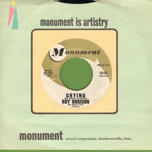 Orbison, Roy - Crying/Candy Man (with Monument company sleeve) - EX8/ - 45 rpm Records