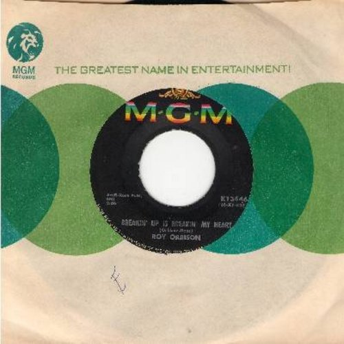 Orbison, Roy - Breakin' Up Is Breakin' My Heart/Wait (with MGM company sleeve) - EX8/ - 45 rpm Records