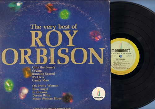 Orbison, Roy - The Very Best Of: Only The Lonely, Crying, Running Scared, It's Over, Oh Pretty Woman, Blue Angel, Dream Baby (Vinyl MONO LP record) - NM9/VG7 - LP Records