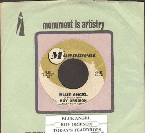 Orbison, Roy - Blue Bayou/Mean Woman Blues (with Monument company sleeve with juke box label) - EX8/ - 45 rpm Records