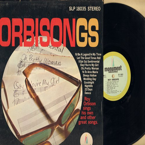 Orbison, Roy - Orbisongs: Wedding Day, Let The Good Times Roll, Oh Pretty Woman, Sleepy Hollow, Goodnight (vinyl STEREO LP record) - NM9/EX8 - LP Records