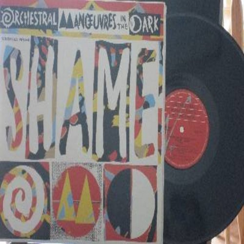 Orchestral Manouvers in the Dark - Shame - 12 inch 45rpm vinyl Maxi Single featuring 6:58 minutes Extended version, 3:49 minutes Rerecorded version and 4:09 minutes version of hit, Canadian Pressing with picture cover) - NM9/NM9 - LP Records