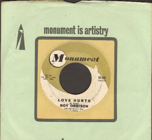 Orbison, Roy - Love Hurts/Running Scared (with Monument company sleeve) - EX8/ - 45 rpm Records