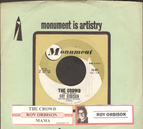 Orbison, Roy - The Crowd/Mama (with company sleeve and juke box label) - EX8/ - 45 rpm Records