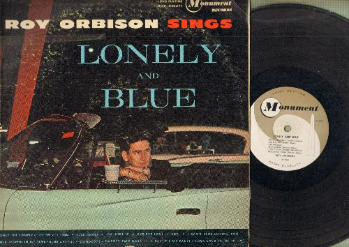 Orbison, Roy - Lonely And Blue: Only The Lonely, Cry, Bye Bye Love, Blue Angel, Raindrops, I'm Hurtin', I Can't Stop Loving You (vinyl MONO LP record, RARE 1961 first pressing!) - VG7/VG6 - LP Records