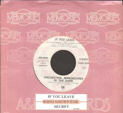 Orchestral Manouvers In The Drark - If You Leave (from film -Pretty In Pink-)/Secret (double-hit re-issue with juke box label and company sleeve) - NM9/ - 45 rpm Records