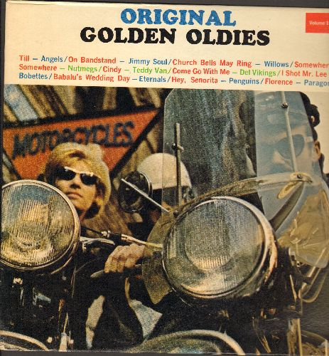 Angels, Penguins, Bobettes, Paragons, others - Original Golden Oldies Vol.1: Till, Church Bells May Ring, Come Go With Me, Florence, I Shot Mr. Lee (Vinyl LP record, 1980s issue of vintage recordings) - NM9/EX8 - LP Records
