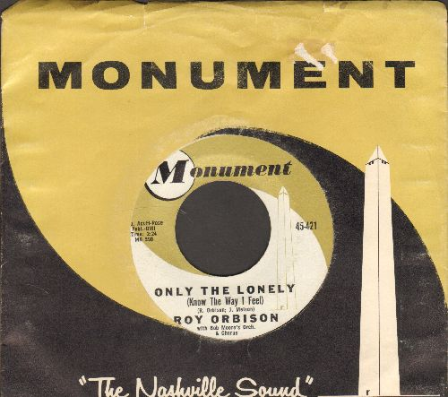 Orbison, Roy - Only The Lonely/Here Comes That Song Again (with RARE vintage Monument company sleeve) - NM9/ - 45 rpm Records