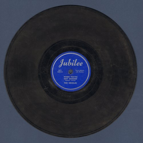 Orioles - How Blind Can You Be/When You're Not Around (10 inch 78rpm record) - VG6/ - 78 rpm
