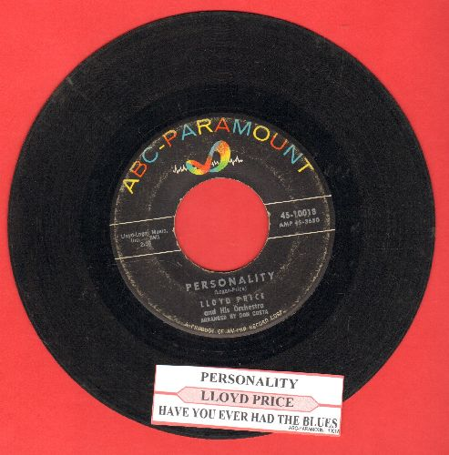 Price, Lloyd - Personality/Have You Ever Had The Blues (with juke box label) - VG7/ - 45 rpm Records