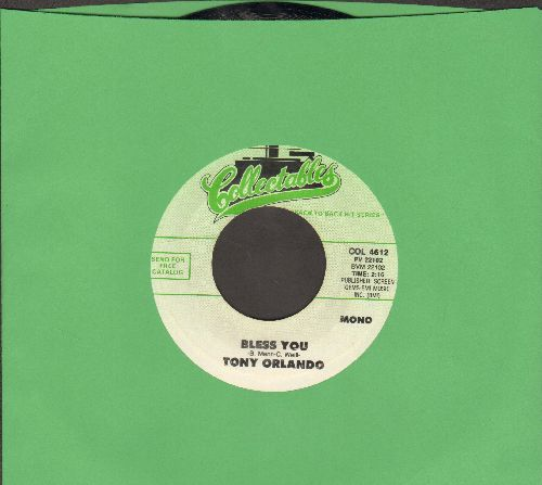 Orlando, Tony - Halfway To Paradise/Bless You (double-hit re-issue) - NM9/ - 45 rpm Records