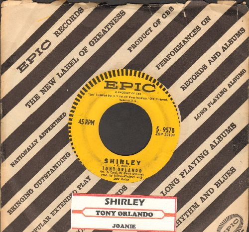 Orlando, Tony - Shirley/Joanie (with vintage Epic company sleeve and juke box label) - VG7/ - 45 rpm Records