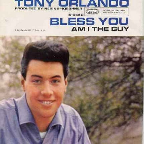 Orlando, Tony - Bless You/Am I The Guy (with picture sleeve) - EX8/EX8 - 45 rpm Records