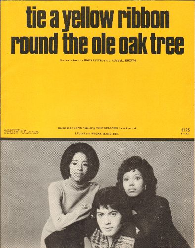 Dawn - Tie A Yellow Ribbon Round The Ole Oak Tree - SHEET MUSIC for the song made popular by Tony Orlando & Dawn. (This is SHEET MUSIC, not any other kind of media!) - VG7/ - Sheet Music