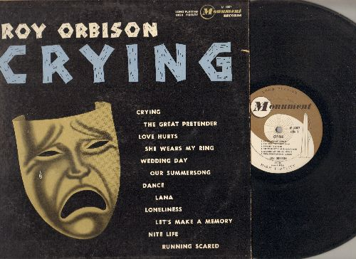 Orbison, Roy - Crying: Love Hurts, Running Scared, The Great Pretender, Wedding Day (vinyl MONO LP record, RARE 1962 first pressing) - VG7/VG7 - LP Records