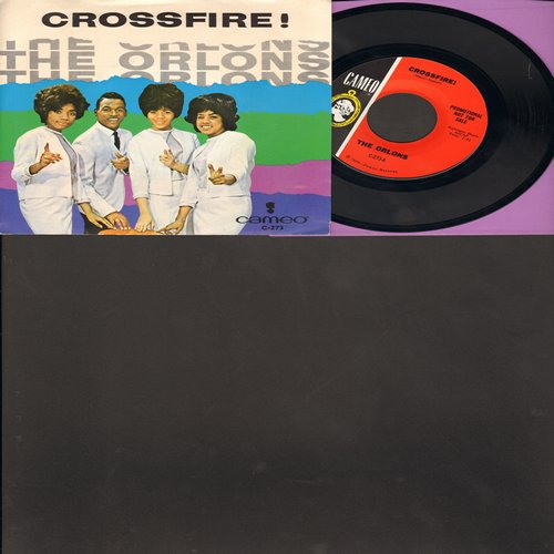 Orlons - Crossfire!/It's No Big Thing (with picture sleeve, NICE condition!) - NM9/EX8 - 45 rpm Records